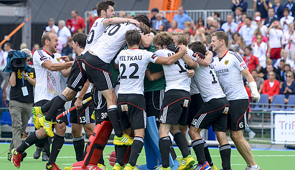 Die Nationalmannschaft im Herren-Hockey holte bei in London Olympia-Gold
