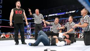 Kevin Owens attackiert Shance McMahon