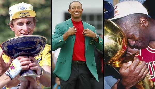 Diashow: Tiger Woods, Michael Jordan und Co.: Die größten Sportler-Comebacks aller Zeiten