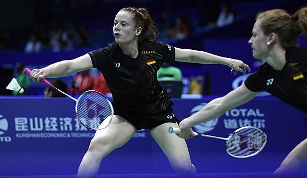 WM in China: Niederlagen für deutsche Badmintonteams