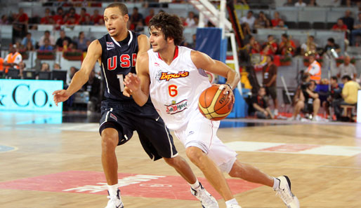 Point-Guard-Duell zwischen den USA und Spanien: Stephen Curry vs. Ricky Rubio