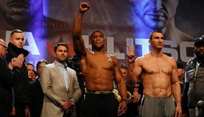Anthony Joshua und Wladimir Klitschko boxen am 29. April