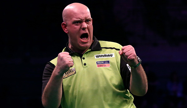 Michael van Gerwen geht als Titelverteidiger bei der Premier League of Darts an den Start.