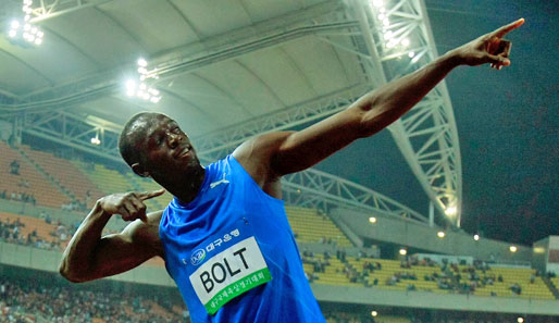 To the top: Usain Bolt halt seine Ziele fest im Blick