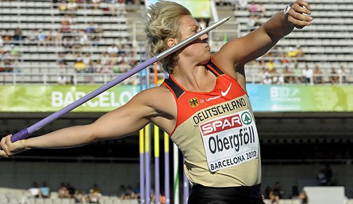 Christina Obergföll gewann 2008 in Peking Olympisches Bronze