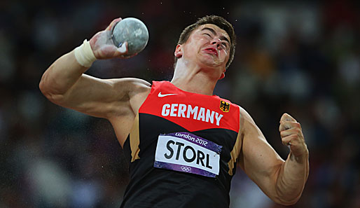 David Storl holte bei Olympia 2012 in London die Silbermedaille