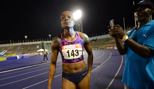 Elaine Thompson gewann den 100m Sprint in Kingston