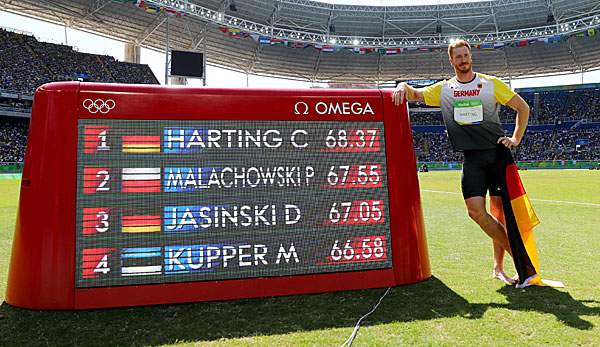 Christoph Harting gewann 2016 in Rio Olympisches Gold.