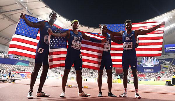 Leichtathletik-WM: US-Sprinter erstmals seit 2007 Staffel-Weltmeister