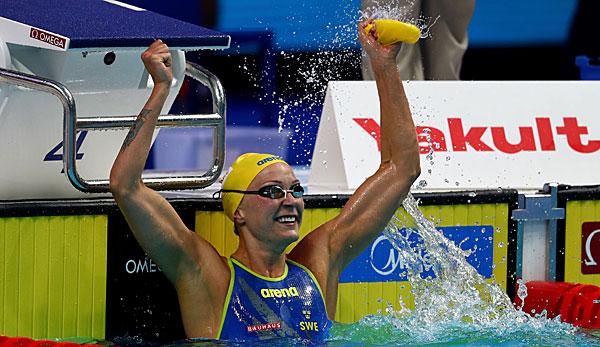 Sjöström knackt Britta Steffens Weltrekord über 50 m Freistil