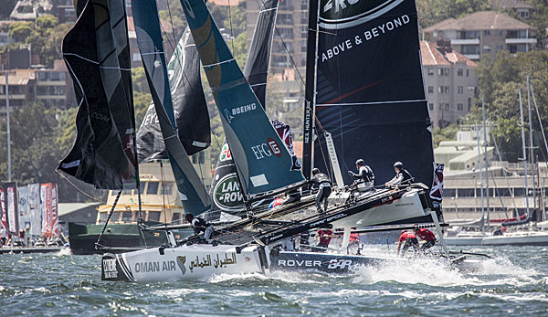 Oman Air gewinnt die Extreme Sailing Series in Hamburg