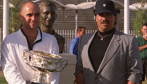 Andre Agassi und sein Fitness-Coach Gil Reyes