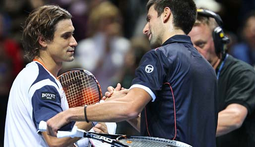 David Ferrer (l.) ließ Novak Djokovic in London keine Chance