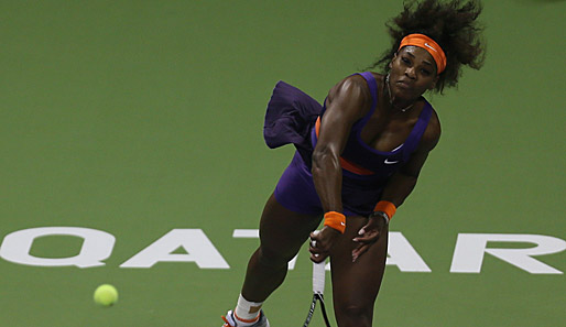 Serena Williams steht beim WTA-Turnier in Doha im Finale