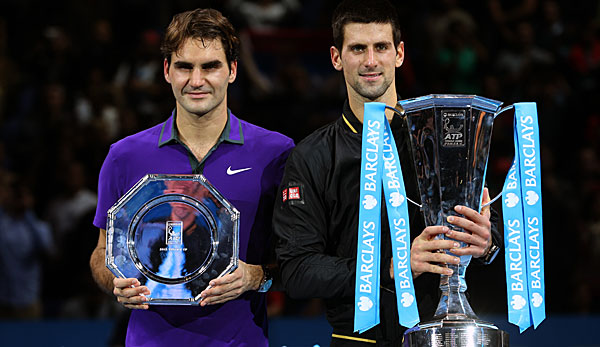 Novak Djokovic (r.) sicherte sich 2012 und 2013 den Titel in London