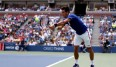 Novak Djokovic steht in der 4. Runde der US Open