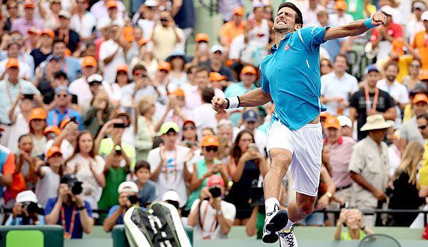 Novak Djokovic gewann das ATP-Turnier in Miami