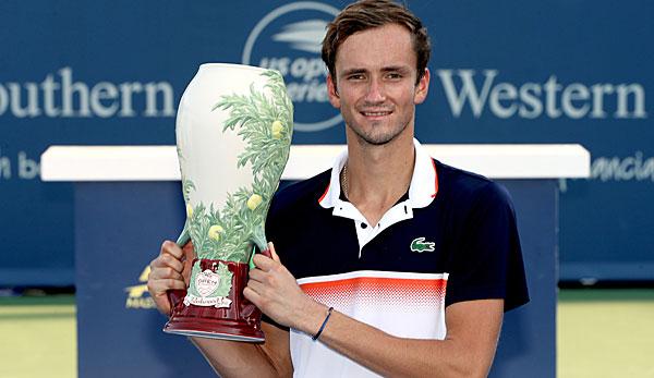 Tennis: Daniil Medwedew gewinnt in Cincinnati im Finale gegen David Goffin