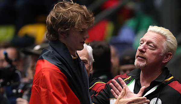 Tennis, ATP Cup: Boris Becker als Kapitän von Zverev und Struff
