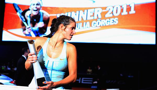 Einer ihrer größten Erfolge: Julia Görges gewann 2011 den Porsche Tennis Grand Prix in Stuttgart.