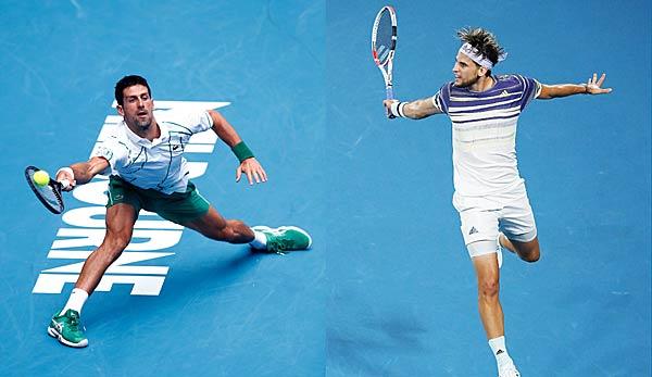 Australian Open: Dominic Thiem gegen Novak Djokovic - Das Finale der Herren heute im Liveticker