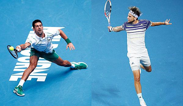 Australian-Open-Finale: Dominic Thiem - Novak Djokovic heute live im TV, Livestream und Liveticker