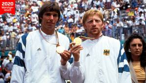 Am 5. August 1992 haben Michael Stich (l.) und Boris Becker Gold bei Olympia in Barcelona gewonnen.