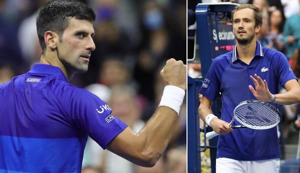 5:3 steht es im direkten Vergleich zwischen Novak Djokovic (l.) und Daniil Medvedev.