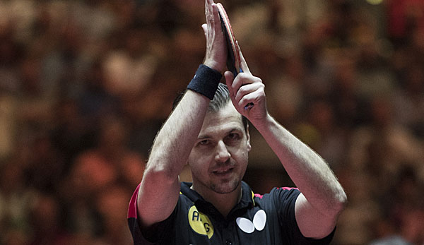 Timo Boll beim World-Tour-Turnier in Olmütz im Achtelfinale