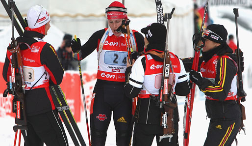 biathlon, frauen, staffel