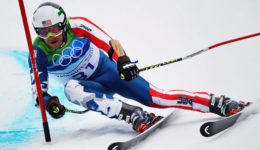 Bode Miller holte bei den Winterspielen in Vancouver Gold in der Super-Kombination