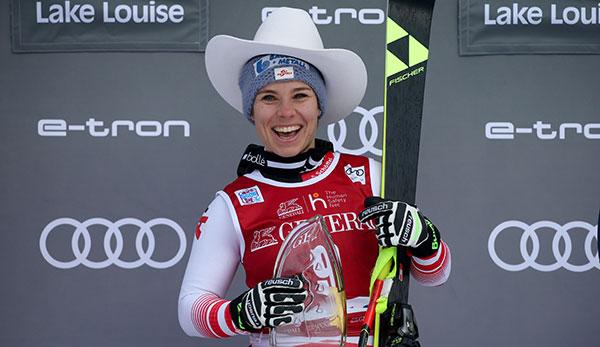 Der letzte Sieg bei der Damen-Abfahrt in Lake Louise ging an die Österreicherin Nicole Schmidhofer.
