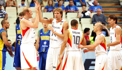 Basketball, Olympia, Qualifikation, Deutschland, Dirk Nowitzki, Chris Kaman, Konrad Wysocki, Steffen Hamann, Demond Green