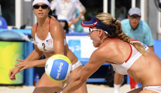 Olympia, Peking, Volleyball, Beach, USA, China, Finale