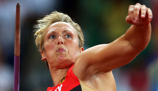 Christina Obergföll gewann in London die Silbermedaille