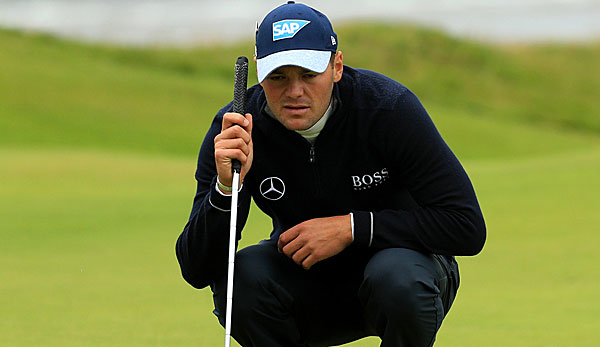 Martin Kaymer kämpft bei den British Open um einen Platz in den Top Ten