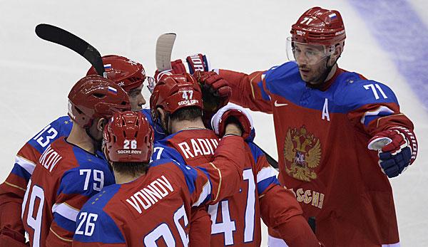 Die russen konnten mit einem 4 0 sieg den einzug ins viertelfinale