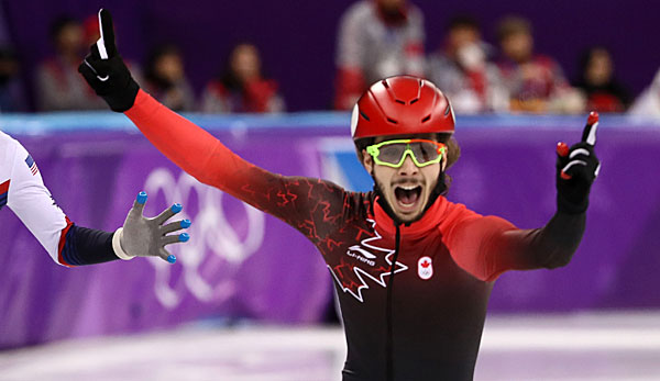 Kanadier Samuel Girard holt Shorttrack-Gold über 1000 m.