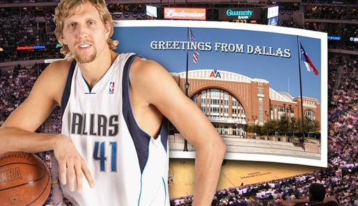Nowitzki, Dallas, Mavericks, Postkarte