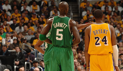 Kobe, Bryant, Kevin, Garnett, Los, Angeles, Lakers, Boston, Celtics