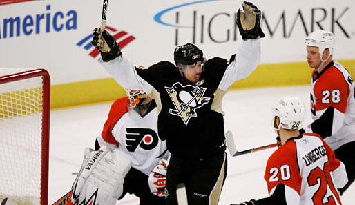 nhl, penguins, flyers, crosby, biron