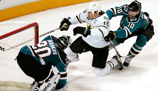 Sharks, Stars, Dallas, San Jose, Morrow, Ehrhoff