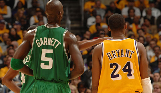 Garnett, Bryant, Boston, L.A., Celtics, Lakers