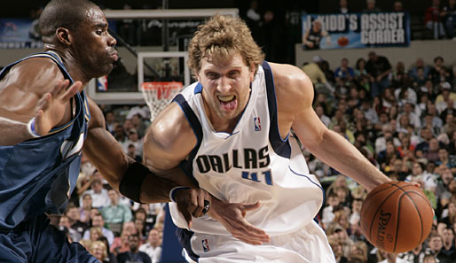 Dirk Nowitzki war gegen die Washington Wizards mit 34 Punkten Topscorer der Dallas Mavericks