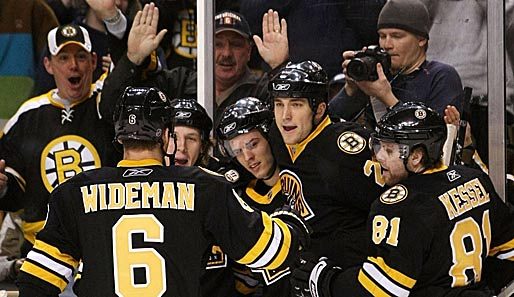 Jubel bei den Boston Bruins