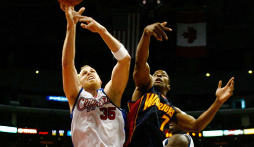 Sieg mit den L.A. Clippers: Chris Kaman (l.)