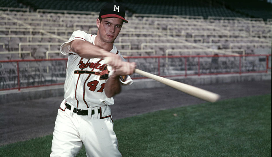 Platz 23: Eddie Matthews - 512 HR (1952-1968 für die Boston Braves, Milwaukee Braves, Atlanta Braves, Houston Astros, Detroit Tigers)