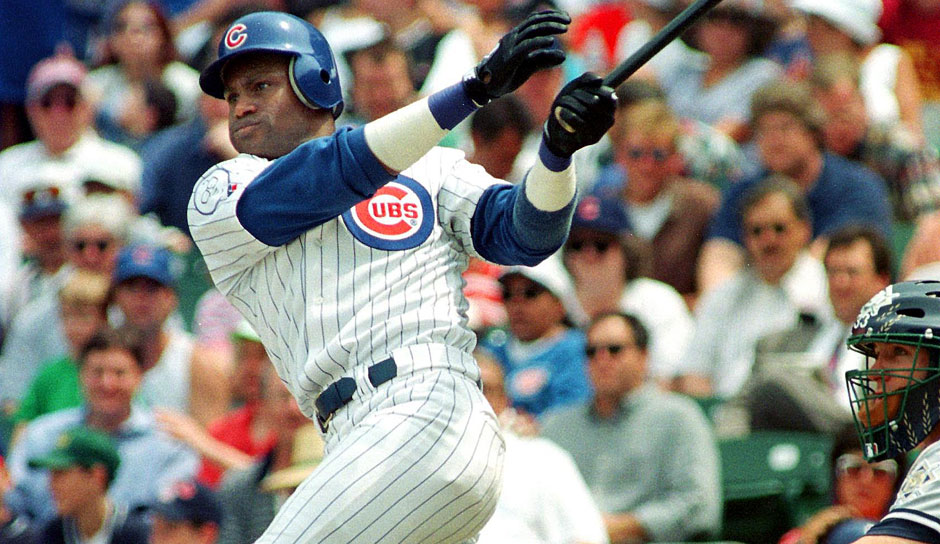 Platz 9: Sammy Sosa - 609 HR (1989-2005 für die Texas Rangers, Chicago White Sox, Chicago Cubs, Baltimore Orioles)