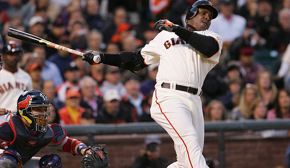 Platz 1: Barry Bonds - 762 HR (1986-2007 für die Pittsburgh Pirates, San Francisco Giants)