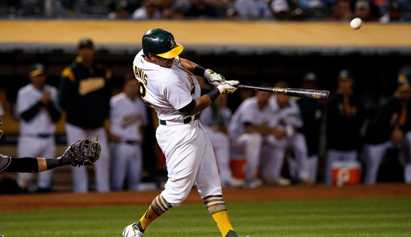 Khris Davis gelang der Game-Winning Hit gegen die New York Yankees
